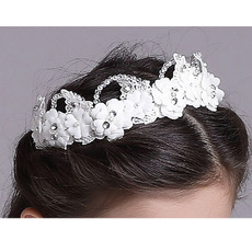 Flower Girl Floral Hoop Headband Hairband Headwear for Wedding