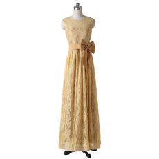 Custom Sleeveless Floor Length Lace Mother Dresses for Wedding