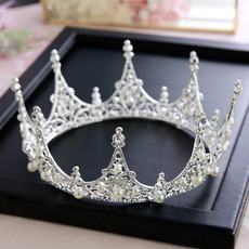 Alloy with Beads Wedding Tiara/ Headpieces for Brides