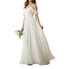 Affordable Spaghetti Straps Floor Length Chiffon Bridesmaid Dresses