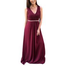 2020 New Style V-Neck Floor Length Chiffon Bridesmaid Dresses