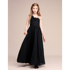 Affordable One Shoulder Flower Girl Dresses/ Junior Bridesmaid Dresses