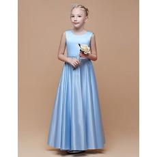 Stunning A-Line Satin Flower Girl Dresses/ Junior Bridesmaid Dresses
