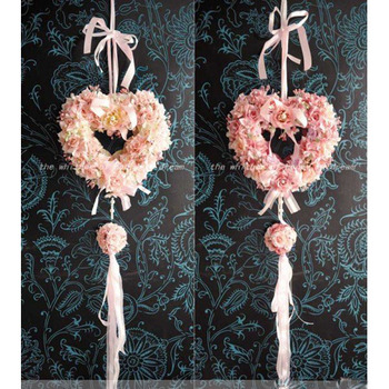 Dreamlike Villatic Curling Heart-shaped Big Flower Hanging