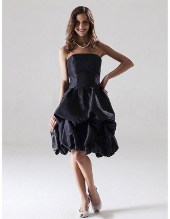 Ball Gown Strapless Short, Mini Taffeta Bridesmaid, Wedding Party Dress - US$ 79.95 | eBuyWedding.com