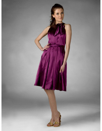 Sheath, Column Jewel Knee-length Elastic satin Bridesmaid, Wedding Party, Homecoming Dress - US$ 89.95 | eBuyWedding.com
