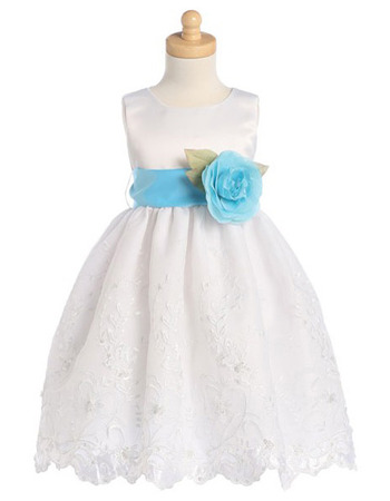 Discount Custom Ball Gown Applique First Communion Dresses with Belts