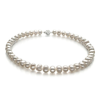 White 8-9mm Freshwater Pearl Necklace