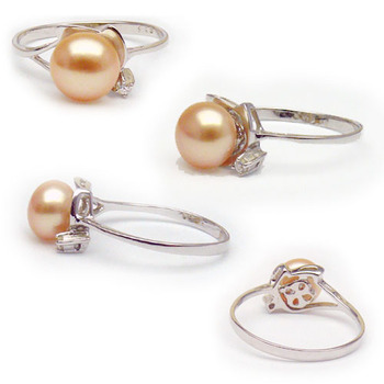 Pink 8mm Freshwater Pearl Ring