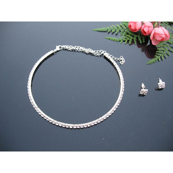 Crystal Earring and Necklace Set Bridal Jewelry Collection