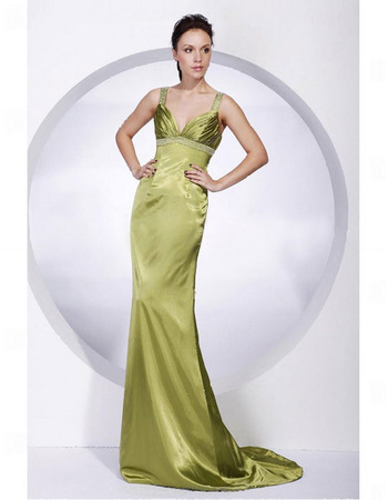 Mermaid Taffeta Evening Dress/ Long Sweetheart Evening Dress