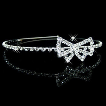 Alloy With Rhinestone Bow Bridal Wedding Tiara