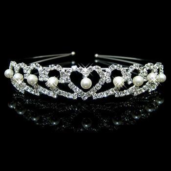 Alloy With Pearl Bridal Wedding Tiara