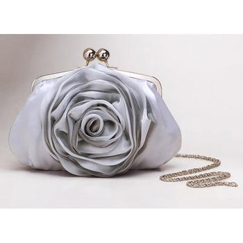 Silk Evening Handbags/ Clutches/ Purses with Flower
