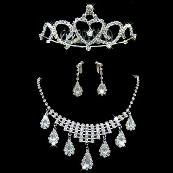 Crystal Earring Necklace Tiara Set Wedding Bridal Jewelry Collection - US$ 19.95 | eBuyWedding.com