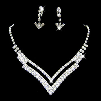 Crystal Earring Necklace Set Wedding Bridal Jewelry Collection - US$ 15.95 | eBuyWedding.com