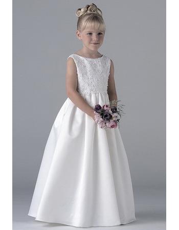 Sweet Applique Floor Length First Communion Dresses, Flower Girl Dresses - US$ 70.95 | eBuyWedding.com