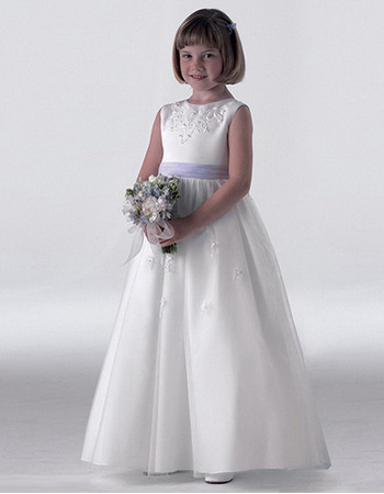 White Graduation Dress on Communion Dresses  Flower Girl Dresses   Us  76 95   Ebuywedding Com