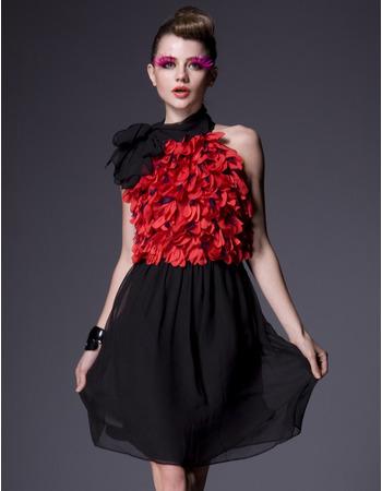 Designer Chiffon Short Holiday Dresses/ Affordable Ruffle A-Line Homecoming Dresses