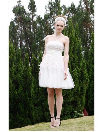 Applique Organza Short Cocktail Dresses/ Designer A-Line Organza Party Dresses