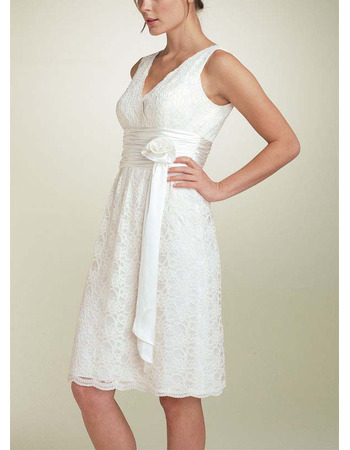 Short White Homecoming Dresses/ Lace Prom Dresses for Graduation ...