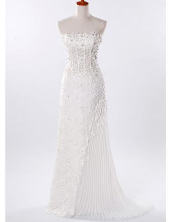 Discount Chiffon A-Line Wedding Dresses/ Elegant Floor Length Church Bridal Gowns