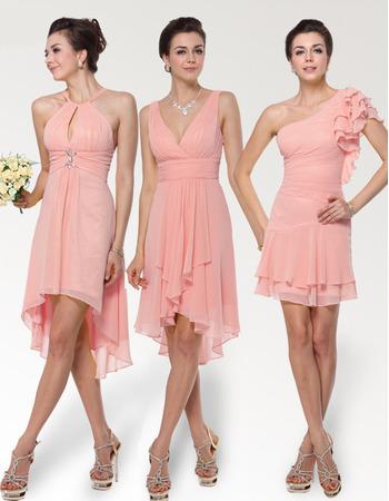 Affordable Sexy Short Chiffon Bridesmaid Dresses for Summer Wedding