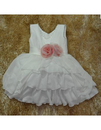 Ball Gown Knee Length Chiffon First Communion/ Flower Girl Dresses