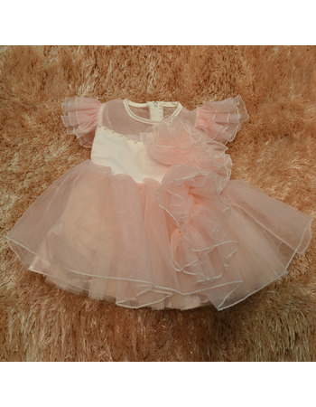 Ball Gown Knee Length Organza Easter Dresses/ Flower Girl Dresses