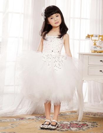 Ball Gown Knee Length Tulle Flower Girl Dresses