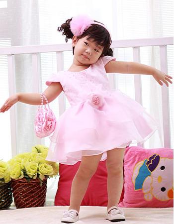 Ball Gown Cap Sleeves Short Flower Girl Dresses