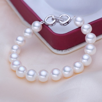 White/ Multicolor 8 - 8.5mm Freshwater Off-Round Bridal Pearl Bracelet