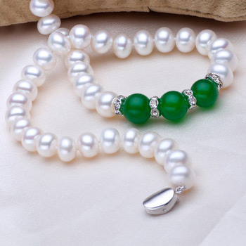 Classic White 8 - 10mm Freshwater Off-Round Pearl Necklace