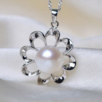 Stunning White 11 - 12mm Off-Round Freshwater Natural Pearl Pendants