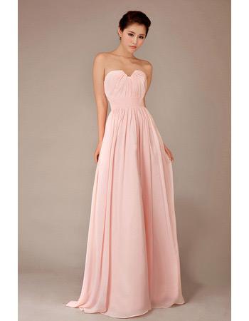 Elegant Chiffon Sweetheart Floor Length A-Line Bridesmaid Dresses