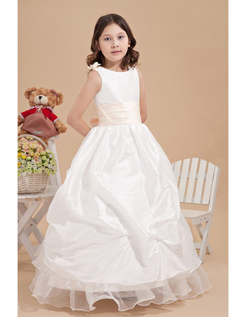 2019 Luxurious Ball Gown Pick-Up Ankle Length First Communion Dresses