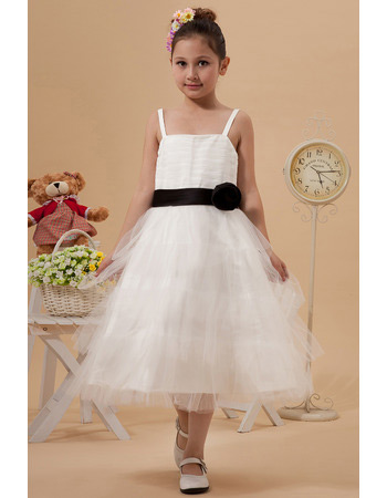 Stunning Ruffle Skirt Organza Knee Length First Communion Dresses