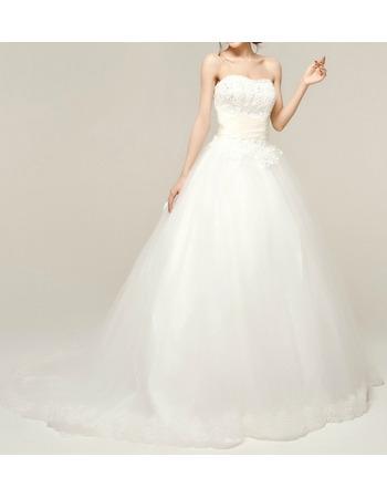 Discount Custom A-Line Sweetheart Sweep Train Taffeta Wedding Dresses