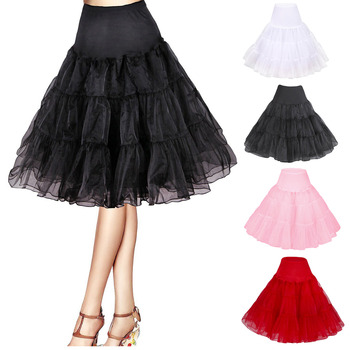 Women's Candy Color Organza Knee Length Wedding Petticoats/ Skirts