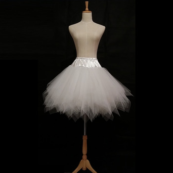 Cute White Tulle Mini Skirts/ Wedding Petticoats for Ladies/ Girls