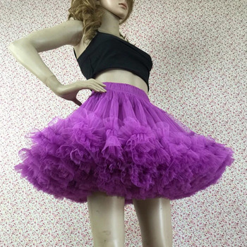 Women's Sexy Lavender Tulle Mini Tutus/ Skirts/ Wedding Petticoats