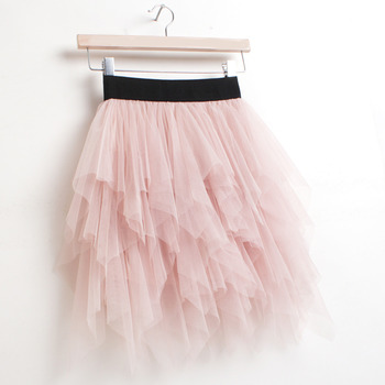 Girls' Cute Ball Gown Pink Tulle Mini Tutus/ Skirts