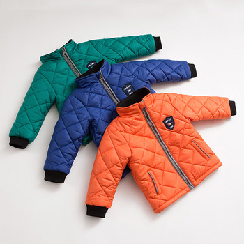 Cute Boys Girls Baby Winter Hooded Solid Cotton Padded Coat/ Outerwear