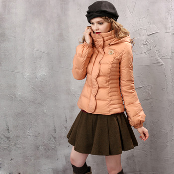 Women's Fashion Winter Slim Solid Hooded Long Sleeves Down Coat Parka