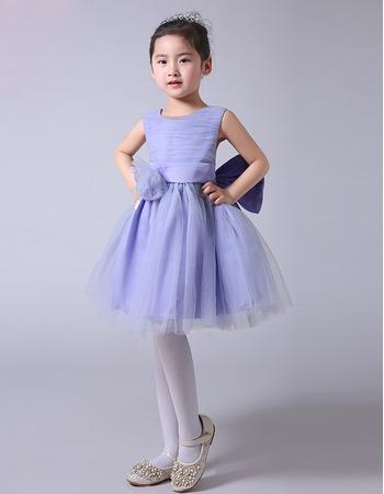 2018 New Style Ball Gown Knee Length Tulle Flower Girl Dresses