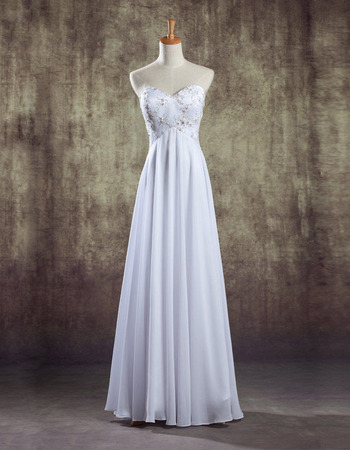 Discount Sweetheart Empire Floor Length Chiffon Wedding Dresses