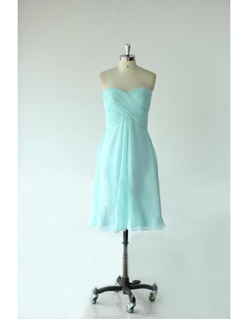 Custom Empire Sweetheart Knee Length Chiffon Bridesmaid Dresses