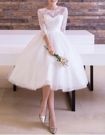 Long Sleeve Knee Length Wedding Dresses 60 Off Airinternational Dk