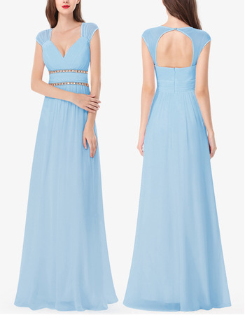 2018 New Style Sweetheart Floor Length Chiffon Bridesmaid Dresses