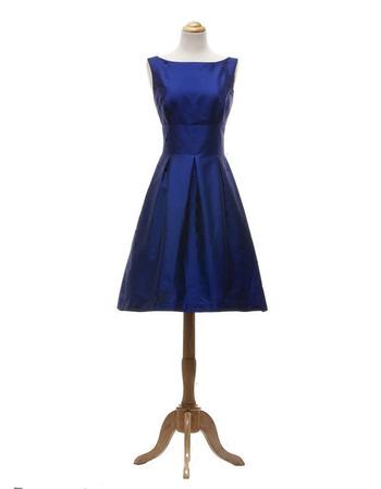 2019 New A-Line Short Taffeta Bridesmaid/ Wedding Party Dresses